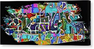 Scrap Of Paper Canvas Print by Gwyn Newcombe