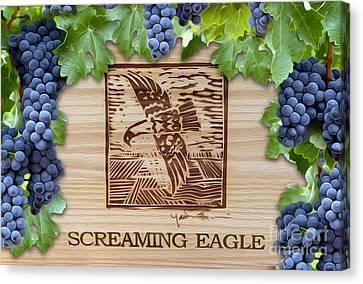 Screaming Eagle Canvas Print by Jon Neidert