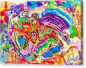 Scribble Canvas Print by Gerry Robins