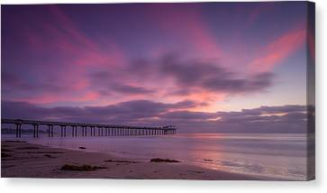 Scripps Pier Colors Canvas Print by Peter Tellone