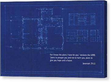 Scripture And Picture Jeremiah 29 11 Canvas Print by Ken Smith