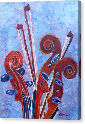 Scroll Bouquet Canvas Print by Jenny Armitage