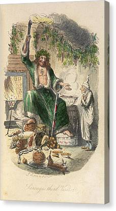 Scrooge's Third Visitor Canvas Print by British Library