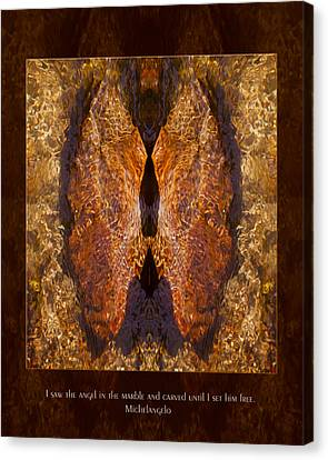 Sculpting An Angel Canvas Print by Omaste Witkowski