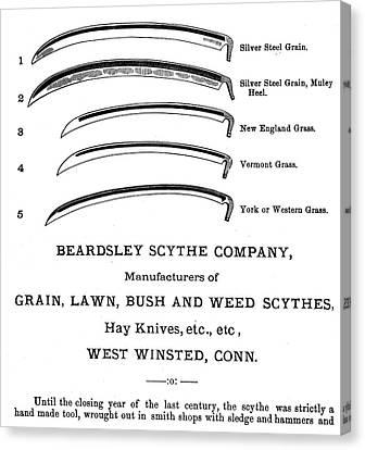 Scythe Blades, 1876 Canvas Print by Granger
