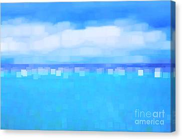 Sea And Sky Abstract Canvas Print by Natalie Kinnear