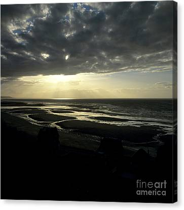 Sea And Stormy Sky Canvas Print by Bernard Jaubert
