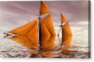 Sea Boat Collections - Naufrage  C02 Canvas Print by Variance Collections