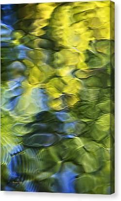 Sea Breeze Mosaic Abstract Art Canvas Print by Christina Rollo