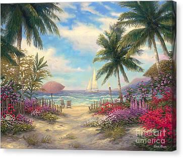 Sea Breeze Path Canvas Print by Chuck Pinson