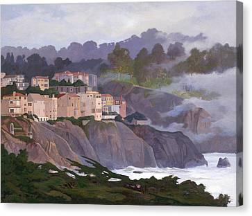 Sea Cliff Canvas Print by Leonard Filgate