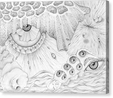 Sea Deep In Wisdom Canvas Print by Sharon Ebert