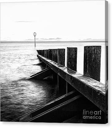 Sea Defences Portobello Canvas Print by John Farnan