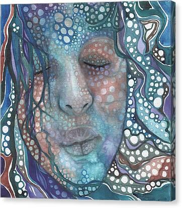 Sea Foam Canvas Print by Tamara Phillips