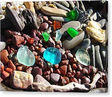 Sea Glass Art Prints Beach Seaglass Canvas Print by Baslee Troutman