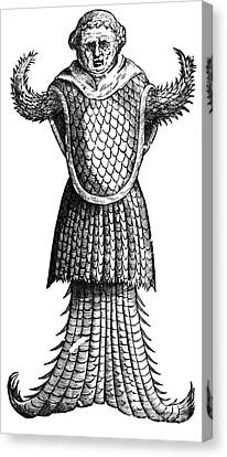 Sea Monk, Legendary Creature Canvas Print by Photo Researchers