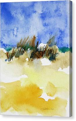 Sea Oats Canvas Print by Julianne Felton
