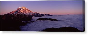 Sea Of Clouds With Mountains Canvas Print by Panoramic Images