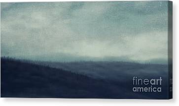 Sea Of Trees And Hills Canvas Print by Priska Wettstein