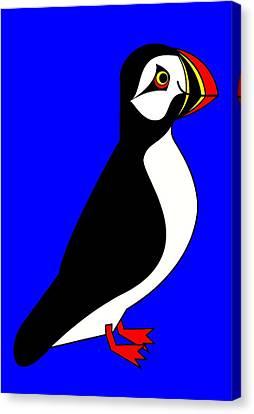Sea-parrot Canvas Print by Asbjorn Lonvig