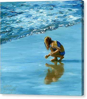 Sea Shell Seeker Canvas Print by Alice Leggett
