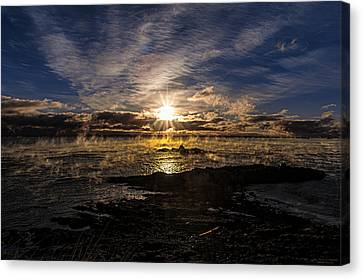 Sea Smoke Panorama Canvas Print by Marty Saccone