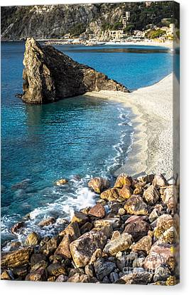Sea Stack Of Monterosso Canvas Print by Prints of Italy