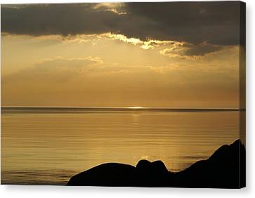 Sea / Sunset Canvas Print by Gynt