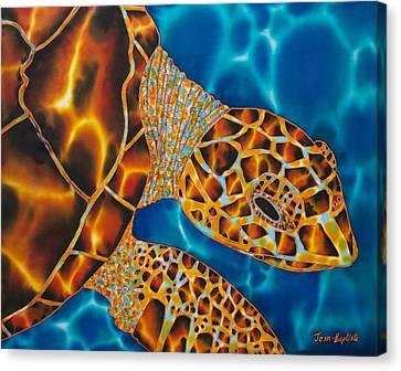 Sea Turtle Canvas Print by Daniel Jean-Baptiste
