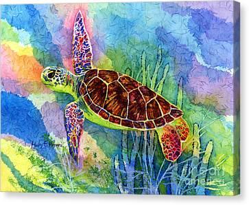 Sea Turtle Canvas Print by Hailey E Herrera