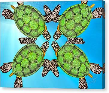 Sea Turtles Canvas Print by Betsy Knapp