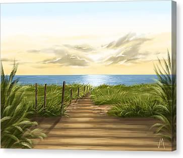 Sea Canvas Print by Veronica Minozzi
