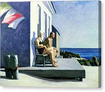 Sea Watchers Canvas Print by Edward Hopper