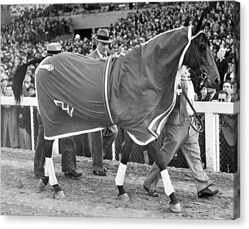 Seabiscuit Horse Racing #4 Canvas Print by Retro Images Archive