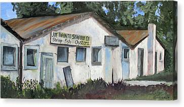 Seafood House Apalach Canvas Print by Susan Richardson