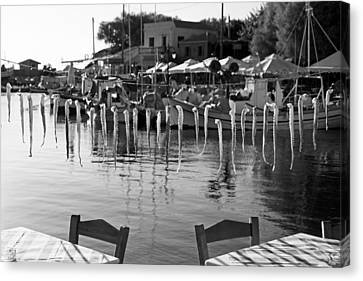 Seafood In Molyvos Canvas Print by George Atsametakis