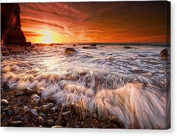 Seaford Sparklers Canvas Print by Mark Leader
