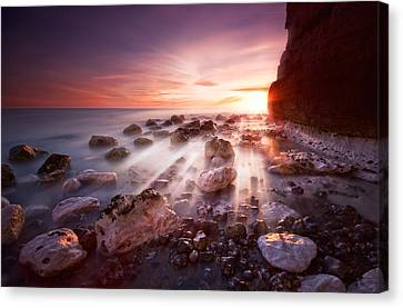 Seaford Sunbeams Canvas Print by Mark Leader