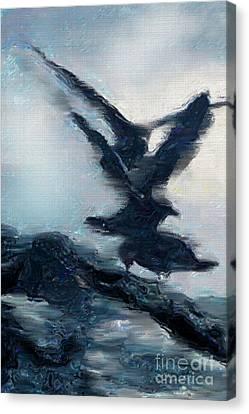 Seagull Grace Canvas Print by Betty LaRue