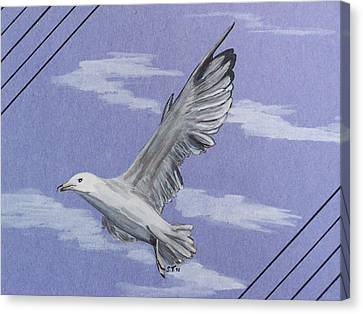 Seagull Canvas Print by Susan Turner Soulis