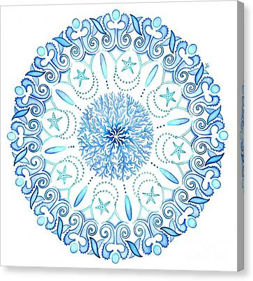 Seahorse Mandala Canvas Print by Stephanie Troxell