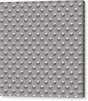 Seamless Metal Texture Rhombus Shapes 2 Canvas Print by REDlightIMAGE