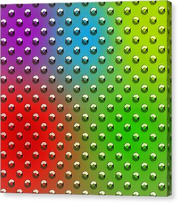 Seamless Metal Texture Rhombus Shapes Coloring Canvas Print by REDlightIMAGE