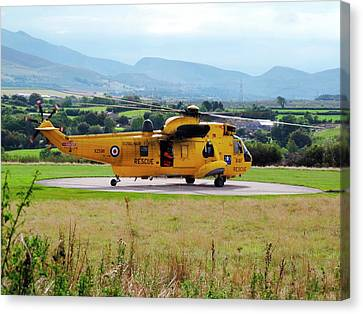 Search And Rescue Helicopter Canvas Print by Cordelia Molloy