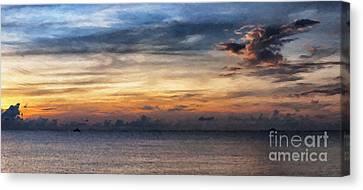 seascape Asia panorama BIG painting Canvas Print by Antony McAulay