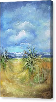 Seascape Print Canvas Print by Nancy Gorr