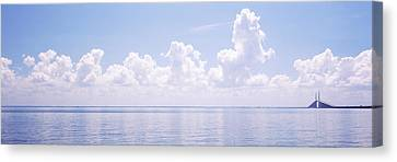 Seascape With A Suspension Bridge Canvas Print by Panoramic Images
