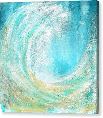 Seascapes Abstract Art - Mesmerized Canvas Print by Lourry Legarde