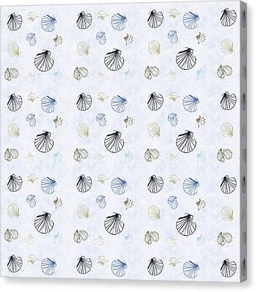 Seashell Pattern Canvas Print by Christina Rollo