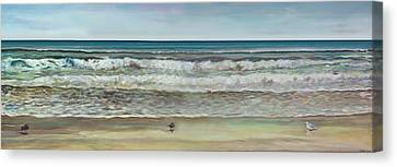 Seashore Panorama Canvas Print by Jennifer Lycke